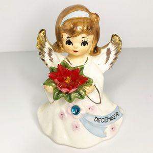 Vintage Lefton Japan December Birthday Angel